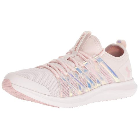 Kids Under Armour Girls 3021136 Canvas Low Top Lace Up Fashion Sneaker