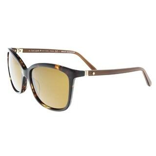 Kate Spade - Kasie/P/S 0RRW Havana Square Sunglasses - 55-17-125