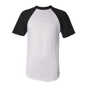 Augusta Sportswear Short Sleeve Baseball Jersey - White/ Black - L