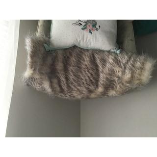 Madison Park Adelaide Year Round Premium Luxury Faux Fur Throw
