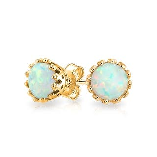 Bling Jewelry Oval Crown Imitation Opal Stud earrings Gold Plated 6mm - White|https://ak1.ostkcdn.com/images/products/is/images/direct/43ffbdfbe604671e0ef1debc94d3d71e324d7115/Bling-Jewelry-Oval-Crown-Simulated-Opal-Stud-earrings-Gold-Plated-6mm.jpg?impolicy=medium