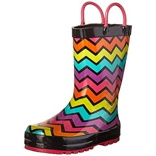 Western Chief Girls Funny Stripe Rain Boots Toddler Colorblock - 8 medium (d) toddler