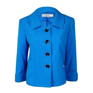 Tahari Women's Crop Four Button Cuffed 3/4 Sleeve Blazer