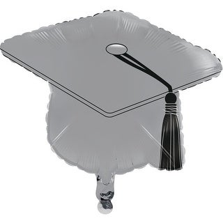 """Set of 10 Gray and Black Graduation Day Mortarboard Party Balloons 7.87"""""""