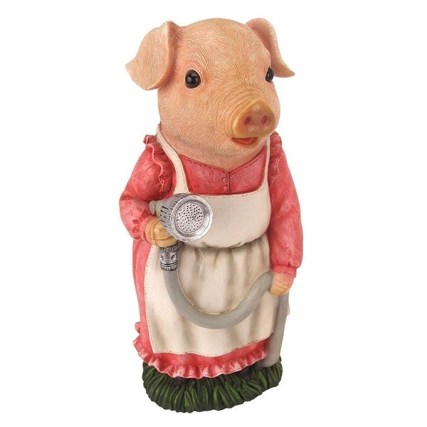 New Design Toscano Pink Pigs Welcome Sign Garden Statue Figure Garden  Ornament
