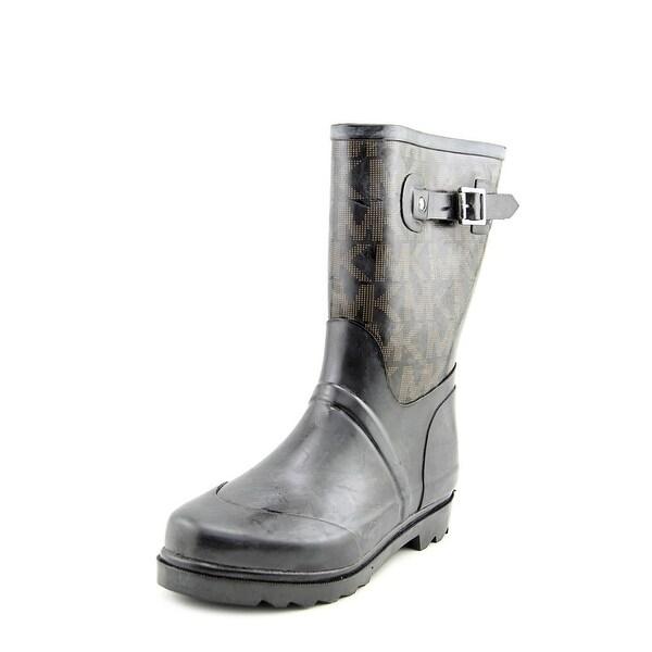eb0a925f216b Michael Michael Kors MK Logo Mid Rainboot Women Synthetic Black Rain Boot