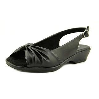 Easy Street Fantasia Women W Open-Toe Synthetic Black Slingback Sandal