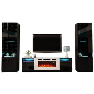 Link to York WH02 Electric Fireplace Modern Wall Unit Entertainment Center Similar Items in Entertainment Units