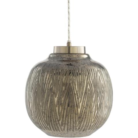 """Ani Hand Finished Glass Globe 1-light Pendant - 10""""H x 10""""W x 10""""D"""