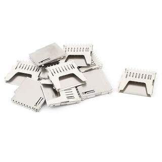 Unique Bargains 10 Pieces 11 Pin SD Memory Card Socket Connector Adapter Coupler Plug