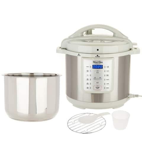 Martha Stewart 8-qt 7-in-1 Digital Stainless Steel Pressure Cooker Model K48342