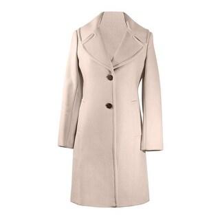 Diane von Furstenberg Pearl Gray Wool Coat