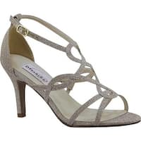 Dyeables Women's Madison Strappy Sandal Champagne Glitter