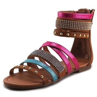 Nina Graziella Youth Open Toe Leather Gladiator Sandal