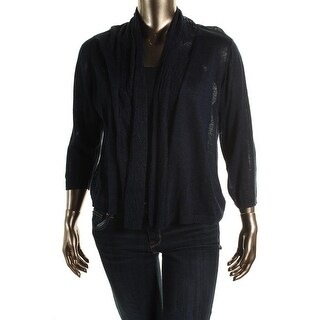 Jones New York Womens Plus Knit Open Front Cardigan Sweater