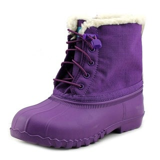 Native Jimmy Winter Youth Round Toe Canvas Purple Winter Boot