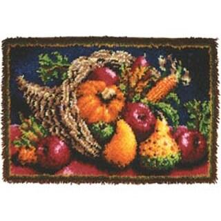 "Country Harvest - Wonderart Classic Latch Hook Kit 20""X30"""