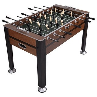 Costway 54'' Foosball Soccer Table Competition Sized Football Arcade Indoor Game Room