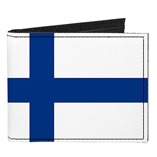 Buckle-Down Canvas Bi-fold Wallet - Finland Flag Accessory