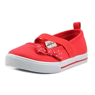 Carter's Smily Toddler Round Toe Canvas Red Mary Janes (Option: 9)