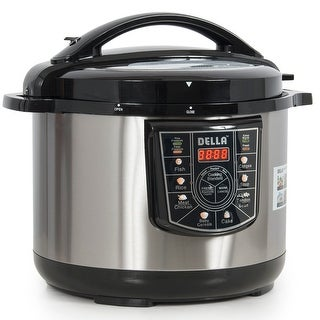 Della 8-in-1 Programmable Electric Pressure Cooker Stainless Steel, 10-Quart 1400-Watt