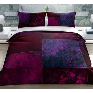 Link to ECLECTIC BOHEMIAN PATCHWORK WINE and PURPLE Duvet Cover by Kavka Designs Similar Items in Duvet Covers & Sets