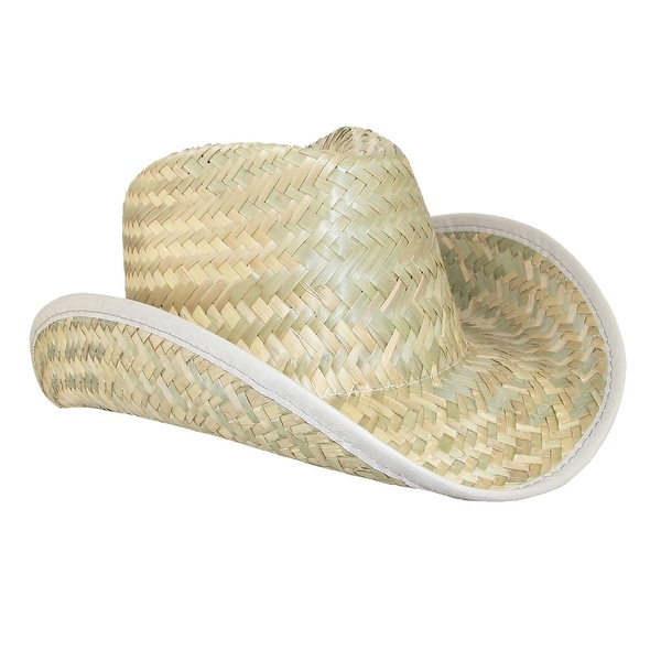 CTM® Straw Traditional Pinch Front Cowboy Hat