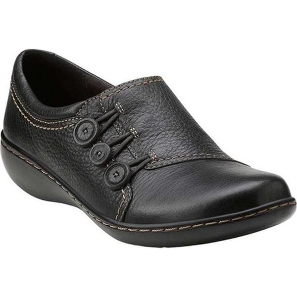 6e5edd780324 Shop Clarks Women s Ashland Effie Black Leather - On Sale - Free ...