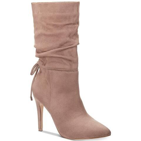 Zigi Soho Womens Jeenie Fabric Pointed Toe Mid-Calf Fashion Boots