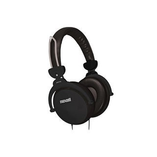 Maxell HP-550F Foldable Headphones with Controller - Black