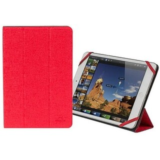 Rivacase 3122RDBK 7 - 8 in. Double-Sided Tablet Cover, Red & Black