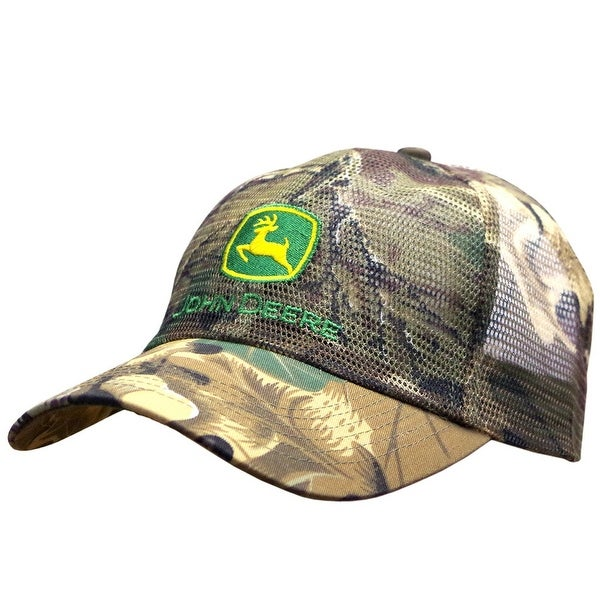 Shop John Deere Western Hat Men Camouflage Embroidery Charcoal