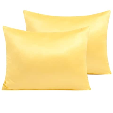 NTBAY Super Soft Luxury Satin Standard&Queen&King Pillowcases for Hair&Skin Care, Zipper Closure Satin Pillow Covers, Set of 2