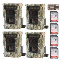 Browning Defender 850 Trail Camera (4) with 32GB Card (4) and Focus Reader - Camouflage