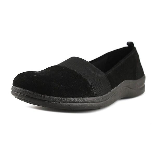 Easy Street Lovey Women Round Toe Suede Black Loafer