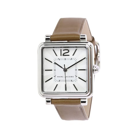 Marc By Jacobs Women's Vic MJ1436 Brown Leather Japanese Quartz Fashion Watch