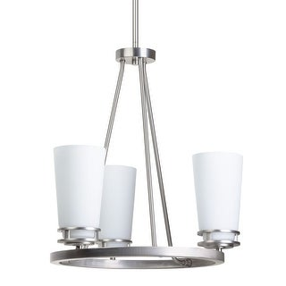"Miseno MLIT135853 3-Light Chandelier with 36"" Adjustable Down Rod - Brushed nickel"