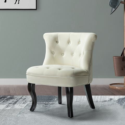 Christi Upholstered Accent Chair with Tufted Back