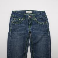 MISS CHIC Embellished Stretch Jeans Medium Wash Denim Womens 1