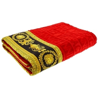 Gianni Versace Large Towel Throw Unisex Beach Towel Bedspread 150x200 Red