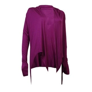 Link to Cable & Gauge Women's Long Sleeves Knit Jersey Tie Cardigan Similar Items in Tops