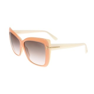 Tom Ford FT0390 44F IRINA Peach Square Sunglasses - 59-13-140