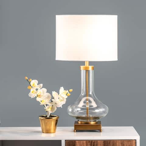 """nuLOOM Hendry 23"""" Glass Table Lamp - 12""""W x 12""""D x 23""""H"""