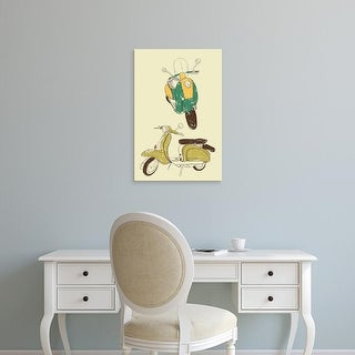 Easy Art Prints GraphINC's 'Scooter III' Premium Canvas Art