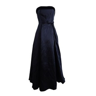 Xscape Women's Strapless Velvet-Trim Ball Gown - Black