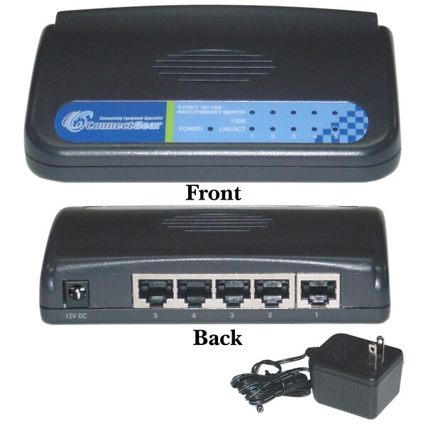 Offex 5 port Fast Ethernet Switch, 10/100 Mbps, Auto-Negotiation