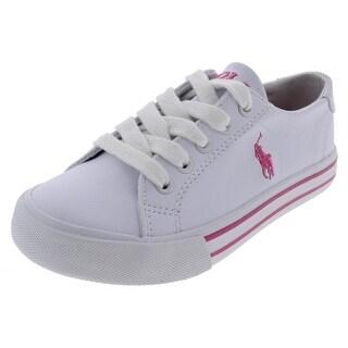 Polo Ralph Lauren Girls Slater Fashion Sneakers Low Top Contrast Trim