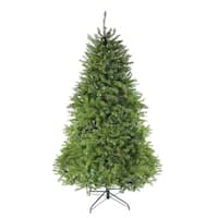 6.5' Pre-Lit Northern Pine Full Artificial Christmas Tree - Multi-Color LED Lights - green