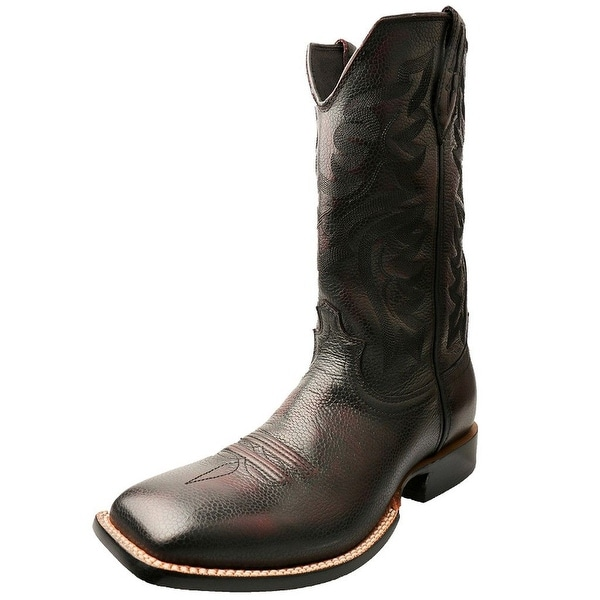 Twisted X Western Boots Men Red River Spur Burgandy Brush Off