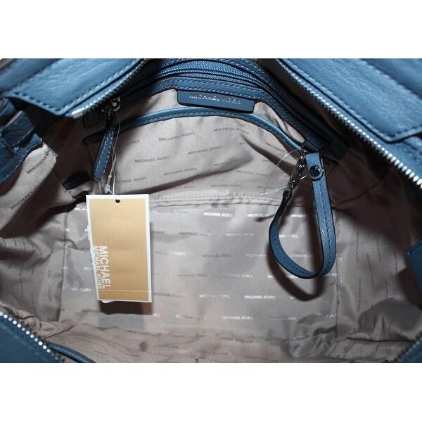 Shop Michael Kors NEW Blue Denim Leather Hamilton Large EW